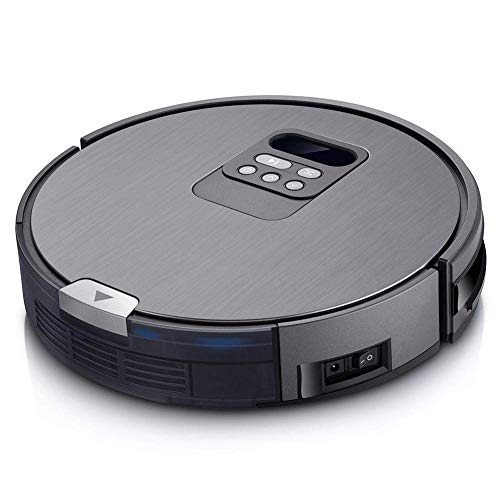 Roboter-Staubsauger, intelligente Fernbedienung Touch-Kehrroboter mit doppeltem Verwendungszweck, elektronische Uhr Automatische stille Staubsaugerkehrmaschine ohne Aufwickelkollision für Teppiche für