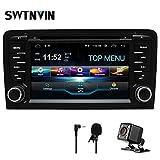 SWTNVIN - Autoradio stereo per auto Android 9, compatibile con lettore DVD Audi A3 da 7', touch screen HD, navigatore GPS con Bluetooth WiFi, controllo al volante, 2 GB + 16 GB