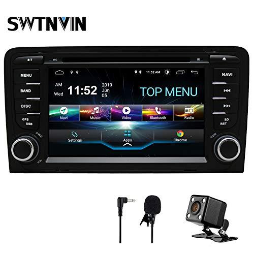 SWTNVIN Android 9 Autoradio Stereo-Headunit passend für Audi A3 DVD-Player Radio 17,8 cm HD Touchscreen GPS Navigation mit Bluetooth WiFi Lenkradsteuerung 2 GB + 16 GB