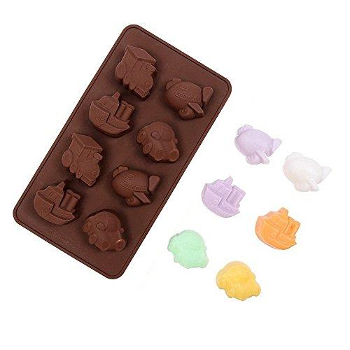 YOKIRIN® Stampo in Silicone Formi di Veicoli Accessorio per la Decorazione Della Torta del Fondente di Cioccolato stampi Zucchero Torte Stampi Sapone(Colore Casual)