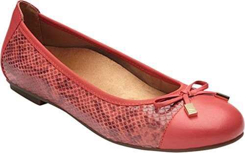 Vionic Womens 359 Gerrit Minna Leather Shoes Coral Snake