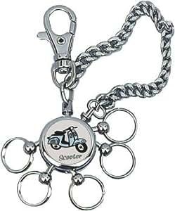 Dakota - Chaine porte-cle SCOOTER, avec 5 anneaux amovibles