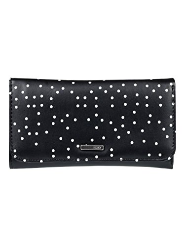 Roxy My Long Eyes Cartera de Pliegue Triple, Mujer, Gris/Negro (True Black Dots for Days), Talla Única