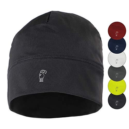Alpidex berretto corsa calcio sportivo bici cappello running donna uomo skull cap, colore:black