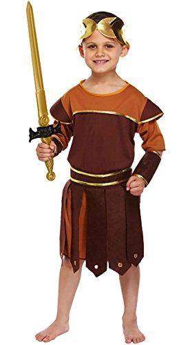 Islander Fashions Jungen R�misches Reich Soldat Kost�m Kinder Griechischer Gladiator Krieger Kost�m Outfit Klein (4-6 ()