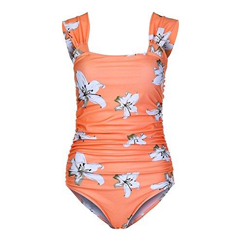 outlet store 3a9a8 3e5c8 9. WWricotta Maternity Tankinis Women Flower Print Bikinis Swimsuit  Beachwear Pregnant(Gelb,M)