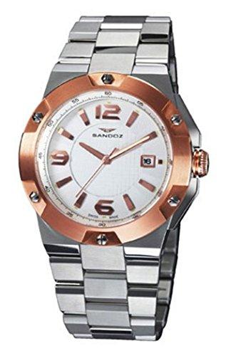 Orologio Sandoz acciaio bicolore IP Rose Uomo 81281–50Svizzera