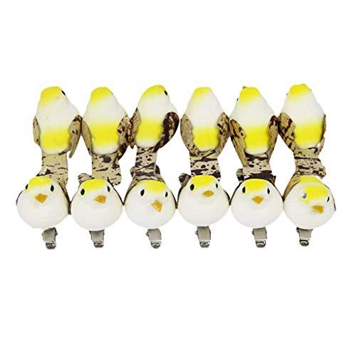 n Vogelfigur für Sammler, Raumdeko Gastgeschenke Baumschmuck - Gelb ()