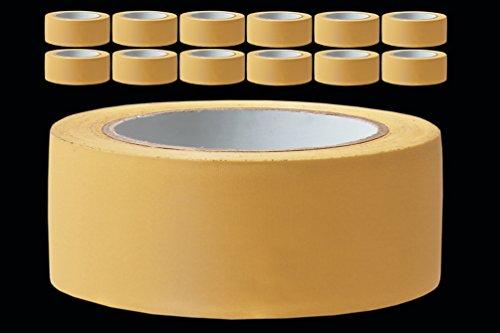 12 Rollen PROFI Putzerband 50 mm gelb gerillt 33 m PVC Schutzband Putzband Bautenschutz Klebeband Putz Abdeckband
