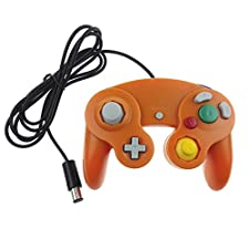 GAME Maple Einzelspieler-Controller, NGC-Spielcontroller GC Single Point-Griff Vibrationsgriff Hostschnittstelle,Yellow