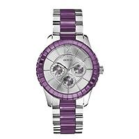 Guess W13582L4 - Reloj analógico de cuarzo para mujer, correa de acero inoxidable multicolor de Guess