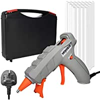 Hot Glue Gun, Heats Up Quickly 50W Hot Melt Glue Gun & Sticks(30pcs 7 * 150mm) with Carrying Case, Rapid Preheating with PTC Heating Technology, Sealing and Quick Repairs.