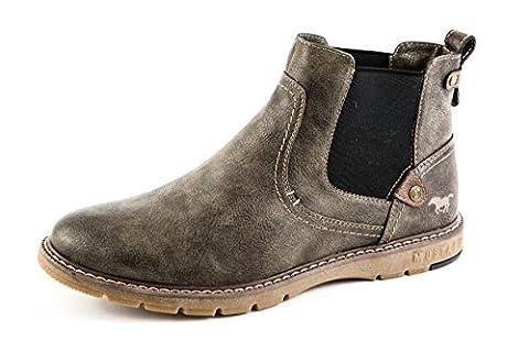 Mustang Herren Chelsea Boots Stiefel Grau Gr. 42