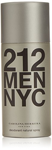 Carolina Herrera 212 Men NYC homme/men, Deodorant Natural Spray, 1er Pack (1 x 150 g)