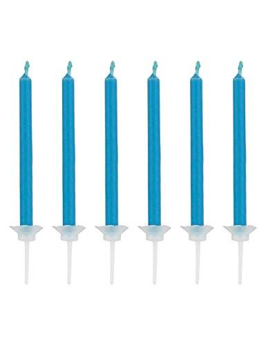 12 Bougies flamme bleue