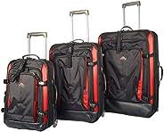Eminent Semi Hard Fancy EVA Luggage Trolley Case AL04 (20+25+29, Black Red)