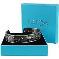 Kupfer magnetisch Armband/Armreif Manschette Wilde Pferde, Zinn-Finish Design by sisto-x ® 6Magnete Rare Earth... preisvergleich bei billige-tabletten.eu