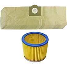 Spares2go Kit de Bolsas de Polvo y Filtro para aspiradora Parkside/Lidl PNTS 1300 1400