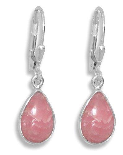 ERCE rodocrosita piedras preciosas pendientes gotas, plata de ley 925 longitud 2,9 cm, en estuche de regalo