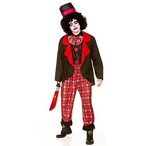 Freaky Kostüm Scary - Deluxe Freaky Clown Men's Costume Scary Halloween Fancy Dress