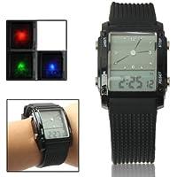 Pantalla LCD Dual con Colorido Reloj Digital LED/cronógrafo práctico