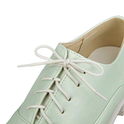 BalaMasa da donna, con lacci, in microfibra tinta, pompe-Scarpe con tacco Green