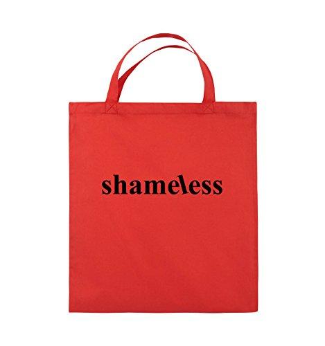 Comedy Bags - shameless - LOGO - Jutebeutel - kurze Henkel - 38x42cm - Farbe: Schwarz / Pink Rot / Schwarz