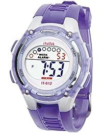 Malloom® 2015 moda Niños Niñas natación deportes digital impermeable reloj de pulsera(púrpura)