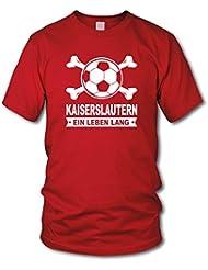 shirtloge - KAISERSLAUTERN - Ein Leben Lang - Fan T-Shirt - Größe S - 3XL