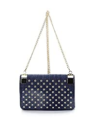 2Chique Boutique Womens Denim Rhinestone Studded Cross Body Bag