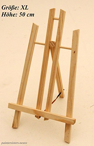4 Stück Tischstaffeleien je 50 cm hoch, Display-Staffelei, Deko-Ständer, Bildhalter, Sitzstaffelei
