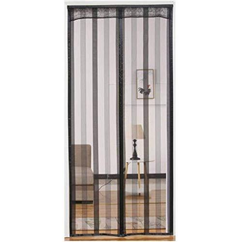 BAOFI Fliegengitter Tür Magnetisch Magnetischer Fliegenvorhang Insektenschutz Schwarz Full Frame Klettverschluss für Balkontür Wohnzimmer Terrassentür,70.8x86.6in/180x220CM