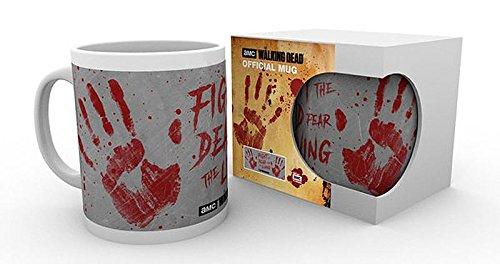 The Walking Dead Tasse Handabdrücke, aus Keramik in Weiß, Fassungsvolumen ca. 320ml (Tee Handabdruck)