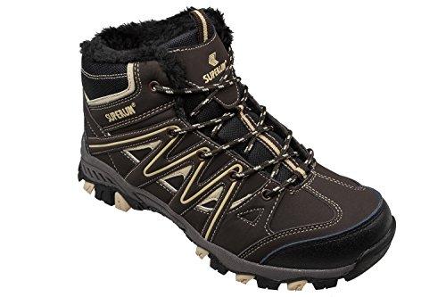 Gibra ®, doublure chaude pour homme de trekking-marron foncé-pointure 41–46 Marron - Marron foncé