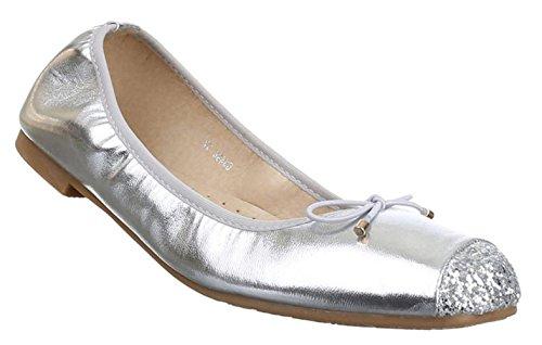 Mocassins Prata Sapatos Sapatilhas 41 39 Vermelho Mulheres Chleifen Ouro 36 Negro Planos 37 Brilho 38 40 n8EqxR