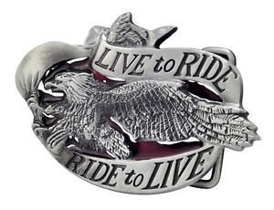 Ride Eagle (Live To Ride Eagle Belt Buckle Biker Motorcycle Unique Metal New Hip Cool by Buckle)