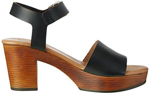 Tommy Hilfiger A1385lice 1a1, Sandales Bout Ouvert Femme Noir (Black 990)