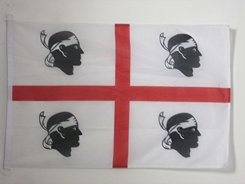 Az flag bandiera sardegna 90x60cm per esterno - bandiera sarda - italia 60 x 90 cm