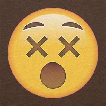 TEXLAB - Dizzy Face Emoji - Damen T-Shirt Braun