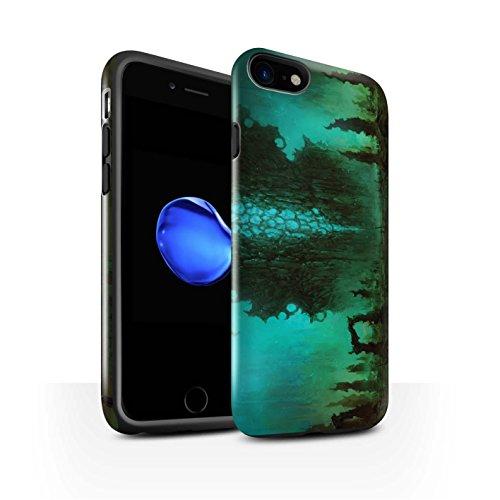 Offiziell Chris Cold Hülle / Glanz Harten Stoßfest Case für Apple iPhone 8 / Zerbrochenen Mond Muster / Fremden Welt Kosmos Kollektion Alien Landschaft
