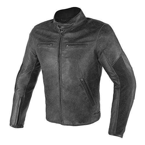 Dainese Original Stripes D1Leather Motorbike/Motorcycle Jacket Black 201533751-1 52 schwarz Dainese Stripes