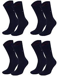 Tommy Hilfiger Lot de 4 paires de chaussettes pour homme Bleu dark navy / dark navy 43-46