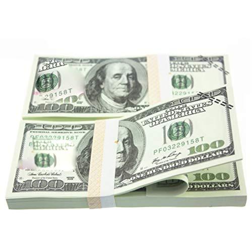 banbie8409 100PCS / Set American Gold Foil-Dollar-Banknote Falschgeld Kunsthandwerk Hochsammlung Kunstbastelbedarf Geschenk -