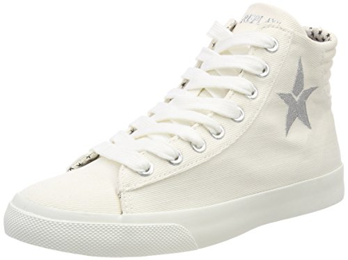 Replay Damen Edna Hohe Sneaker Weiß (Off Wht) 37 EU
