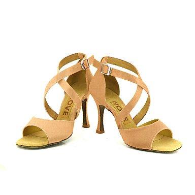 Scarpe da ballo Donna - Latinoamericano / Salsa - Customized Heel - Satin -Nero / Blu / Giallo / Rosa / Viola Purple