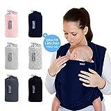 Portabebés gris oscuro - portabebés de alta calidad para recién nacidos y bebés...
