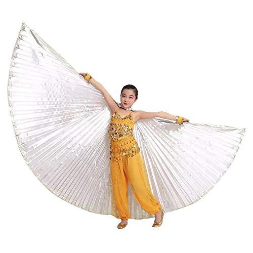 Mädchen Tanz Höhle Kostüm - Kostüme für Kinder, GJKK Kinder Kostüme Ägypten Bauch Flügel Kostüm Bauchtanz Tanzkostüm Flügel Zubehör No Sticks Für Halloween Party Ostern Weihnachten