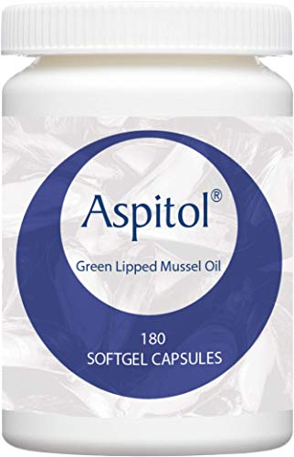 Kala Health Aspitol 180 Softgel Kapseln 50 mg - Grünlippmuschel Kapseln hoch konzentriert - Grünlippmuschel Öl - Grünlippmuschelpulver in Kapseln - Omega 3,6,9