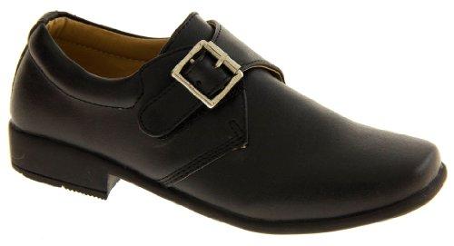 Rsb Monk Cuir Verni Synthétique Chaussures Formelles Garçons Noir (matt)
