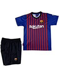 b63246568918 T-shirt and pants set 1st kit FC. Barcelona 2018-2019 - Replica with a  License from FC. Barcelona - Without Dorsal - Boys size 12 years - Measures  Chest 45 ...